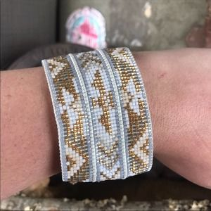 NEW Anthropologie x Mishky Leather Slide Cuff